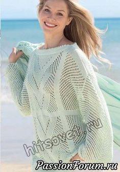 Джемпер сетка - запись пользователя Лисик (Светлана) в сообществе Вязание спицами в категории Вязание для женщин спицами. Схемы вязания спицами