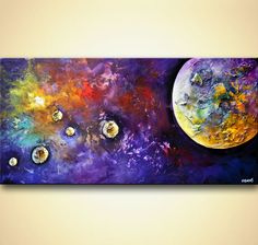 original modern planets Abstract Painting birth of a star art Acrylic painting…