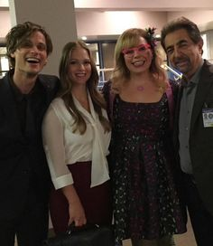 Matthew Gray Gubler, AJ Cook, Kirsten Vangsness, and Joe Mantegna