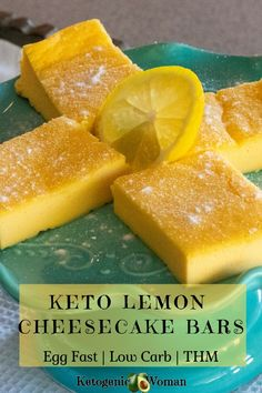 Keto Egg Fast Lemon Bars