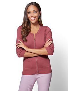 Shop 7th Avenue - Chelsea Zip-Front Cardigan. Find your perfect size online at the best price at New York & Company.