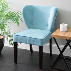 Freshen your décor with the bright Dylan Caribbean Accent Chair! This beautiful chair is upholstered in a soft turquoise fabric and accented with buttons. Outdoor Tables And Chairs, Dining Chairs, Turquoise Accent Chair, Caribbean Decor, Apartment Needs, Slipper Chairs, Round Chair, Farmhouse Table, Coastal Decor