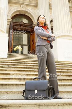 Serious Professional Woman Arms Crossed royalty-free stock photo