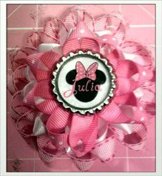 Adorable Personalized Minnie Mouse Hair Clip by SealedWithMyLove, $5.50