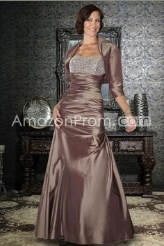 Strapless Floor Length Sheath/Column Mother Of The Bride Dresses Under 200