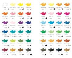 Talens Brush Pens colour chart