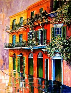Balconies of the French Quarter - Art by Diane Millsap