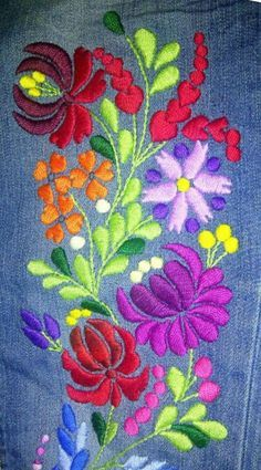 Mexican flower embroidery patterns best of beautiful embroidery on jeans crochet. Mexican flower embroidery patterns best of beautiful embroidery on jeans crochet n needle work – Mexican Embroidery, Hungarian Embroidery, Crewel Embroidery, Hand Embroidery Designs, Embroidery Patterns, Machine Embroidery, Flower Embroidery, Embroidery Tattoo, Embroidery Thread