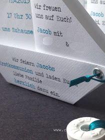 Heute zeigen wir Euch unsere Papier.Boot-Einladung in Reinform. Das ist nicht ganz so einfach, aber das Tolle an der Einladung ist, dass sie...