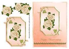 Cream Roses On Peach Plaque - Anniversary