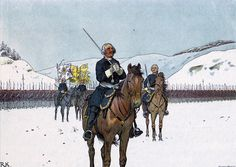 The Old Dessauer praying before his troops before the Battle of Kesselsdorf on 15th December 1747
