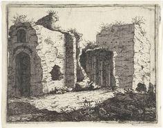 M. Schaep | Romeinse ruïnes in contrastrijk licht, M. Schaep, Bartholomeus Breenbergh, 1648 |