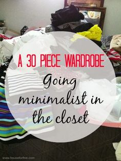 I've been working on this post for awhile now, and am excited to finally be sharing it!I remember once hearing a statistic that we only wear 20% of the clothes in our closet.I'm totally that girl.