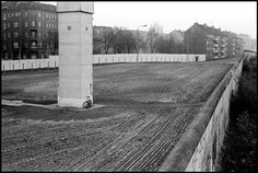 Leonard Freed, The Berlin Wall, November the raked soil showing the area covered by minefields, Germany. West Berlin, Berlin Wall, East Germany, Berlin Germany, Leonard Freed, War Photography, Magnum Photos, Timeline Photos, Cold War
