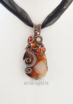 Beautiful wire wrapped stone.