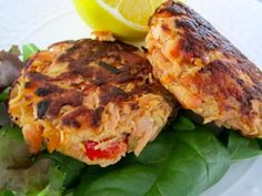 Salmon Cakes!  Love this whole website actually..