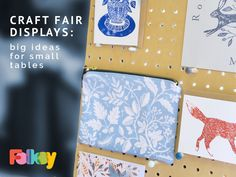 Craft Fair Ideas, big ideas for small tables, craft fair ideas Craft Show Booths, Craft Fair Displays, Display Ideas, Booth Ideas, Shop Interior Design, Diy Design, Small Table Saw, Christmas Craft Fair, Crafty Fox