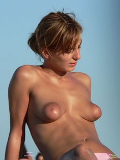 TOPLESS NUDE BEACH FANTASY! TANNED, TEEN NUDIST WITH SMALL BOOBS BUT HUGE PUFFY, BANANA NIPPLES - Nude Amateur Tits, Young Teen Boobs, Naked Moms, Mature MILF Areolas & Sexy Wife Nipples by: BanginPix