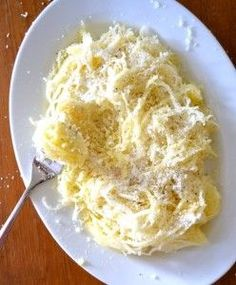 Spaghetti Squash with Parmesan and Butter