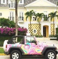 Lilly Pulitzer Jeep in All Nighter Print My Dream Car, Dream Cars, Lilly Pulitzer, Estilo Preppy, Prep Life, Car Goals, Girly, Cute Cars, Future Car