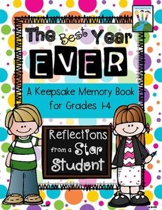This is an excellent and complete end of the year project for students to work on during those fun-filled last days of the school year. Students complete, color, and decorate 19 reflection pages about the best school year ever!  It's perfect to use with multiple grade levels because there are cover pages for 1st graders, 2nd graders, 3rd graders, 4th graders, and even a Star Student Cover!