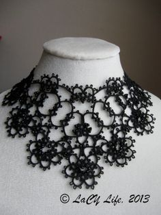 Black Tatted Lace Collar Necklace by LacyLife on Etsy, $110.00