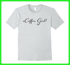 Mens Coffee Girl! Trending Trendy T-Shirts XL Heather Grey - Food and drink shirts (*Amazon Partner-Link)