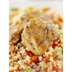 Pollo con quinoa y vegetales