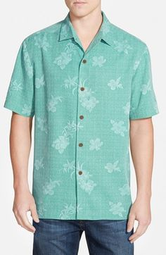 Tommy Bahama 'Aloha Floral' Original Fit Silk Campshirt available at #Nordstrom
