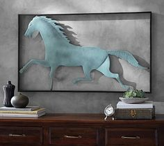 Running Horse Wall Art #potterybarn