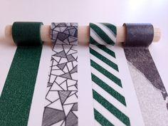 Moody Greens Washi Tape Set -  Dark greens + greys set a mellow, classy mood.