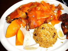 Gladys' Cafe' located in the historic buildings at Royal Dane Mall on ST. Thomas, US Virgin Islands. Caribbean food!