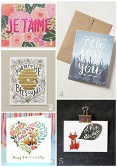 Hand Drawn Valentines Cards 2014