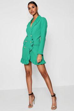 c8c9a718ec4 Kate Ruffle Double Breasted Blazer Dress Blazer Dress