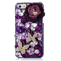 EVTECH(TM) for iPhone 6 plus/iPhone 6s Plus 5.5 Inch 3D Handmade Fashion Crystal Rhinestone Bling Case Cover Hard Case Clear(100% Handcrafted)