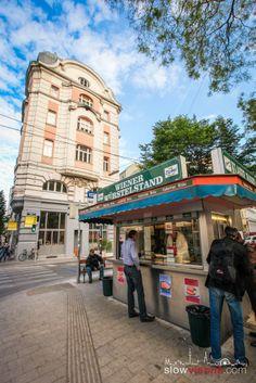#Würstelstand (#SausageStand) in Lerchenfelderstrasse #Vienna, Austria