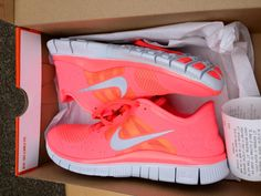 neon coral nikes. I love these.