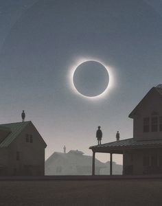 Solar Eclipse by artist Yuri Shwedoff | via Jo Lie