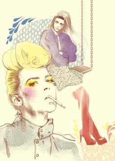 yellow sketches by Svetlana Ihsanova, via Behance