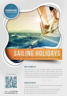3 in 1 Sailing Yacht Travel Flyers Bundle Poster Design Layout, Food Poster Design, Creative Poster Design, Creative Posters, Youtube Banner Design, Web Banner Design, Typography Tutorial, Sailing Holidays, Tourism Poster