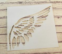 Wing stencil. *This is a fabulous stencil! I must add this to my small collection!*