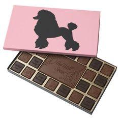 1950s Pink Poodle Skirt Box of Chocolates--#chocolate #1950s #poodle #Parisian #Zazzle