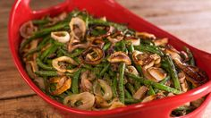 Healthy Green Bean Casserole-3 tablespoons olive oil, divided 1 pound Portobello mushrooms, cleaned and diced 4 shallots plus 1 minced 1 clove garlic, minced 1 cup low-sodium chicken broth Salt and pepper, to taste 1/2 pound wild mushroom 2 pounds blanched green beans