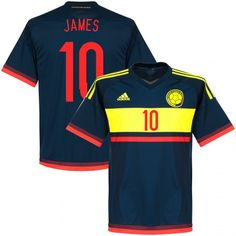 Youth Copa America 2015 Colombia James Rodríguez 10 Away Soccer Jersey