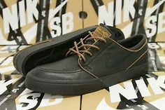 Brown leather janoskis