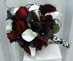 white black and red calla lily - Google Search