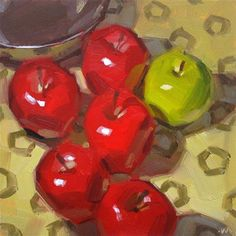 "Daily Paintworks - ""Apple Party"" - Original Fine Art for Sale - © Carol Marine"