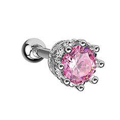 BodyJ4You® Tragus Earrings Vintage Style Stud Pink 16G Piercing Jewelry