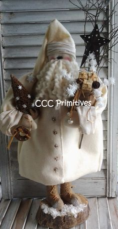 Primitive Christmas Old Fashion Santa E