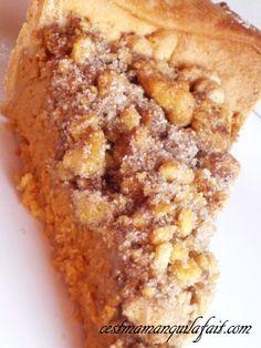 Recette de la Pumpkin Pie / Tarte à la citrouille au Streusel Cannelle par Maman Câline de C'est Maman Qui l'a Fait